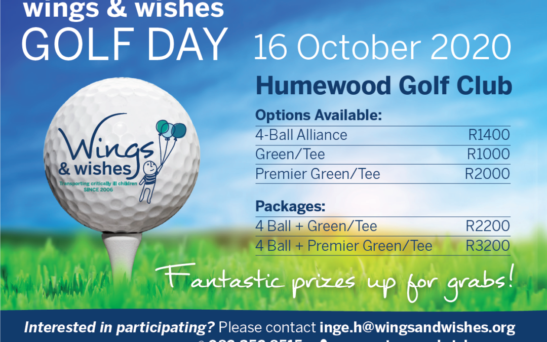 Wings & Wishes Golf Day – 16 October 2020