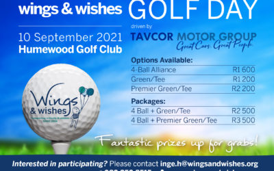 Wings & Wishes Golf Day driven by Tavcor Motor Group